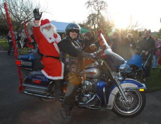 Santa on a Harley